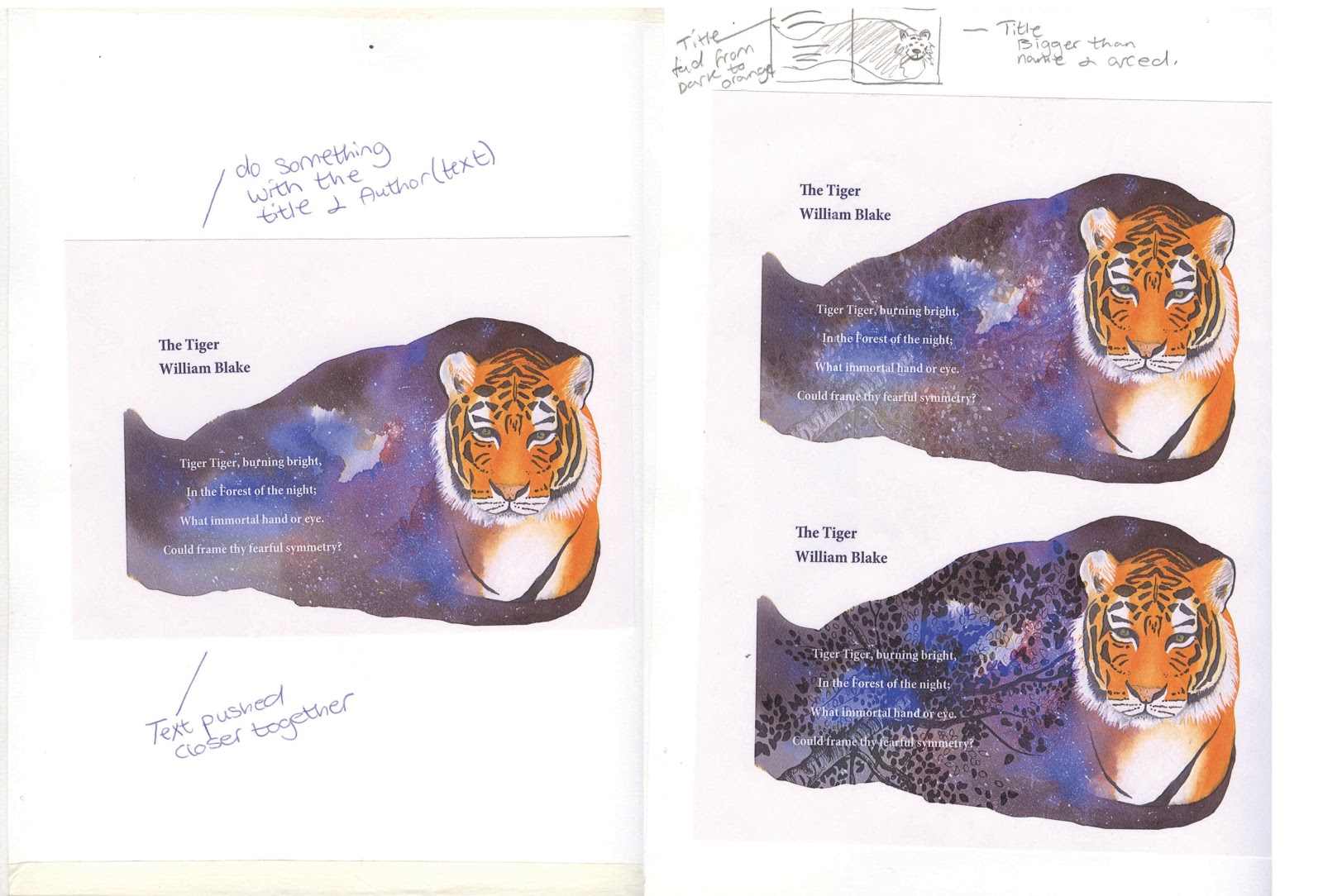poem analysis the tyger Therefore it is of great importance to view the poem under the aspect of comparison and in contrast with its antipode - a poem called ' the lamb ' the contrasted subjects presented in the two poems are god's love in ' the lamb' and god's wrath in ' the tyger ' (damon:1973.