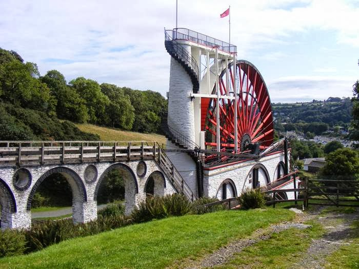 Largest- Working Waterwheel in the world-Lady Isabella.- Isle of Man