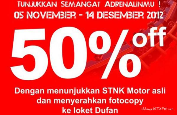 Harga Tiket Dufan Taman Impian JAYA ANCOL Desember 2012