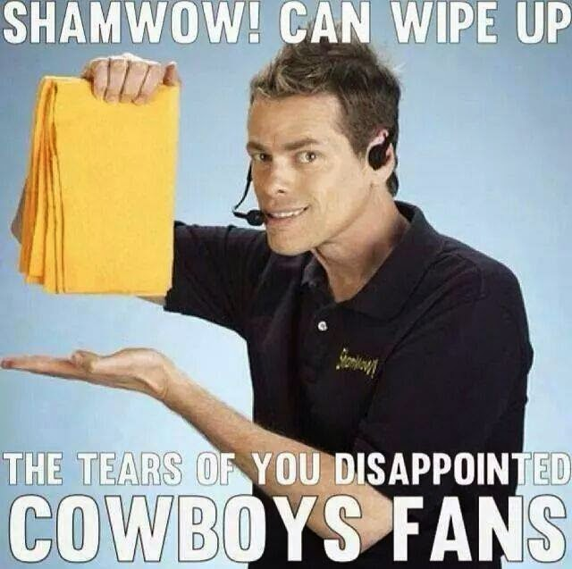 shamwow! can wipe up the tears of you disappointed cowboys fans
