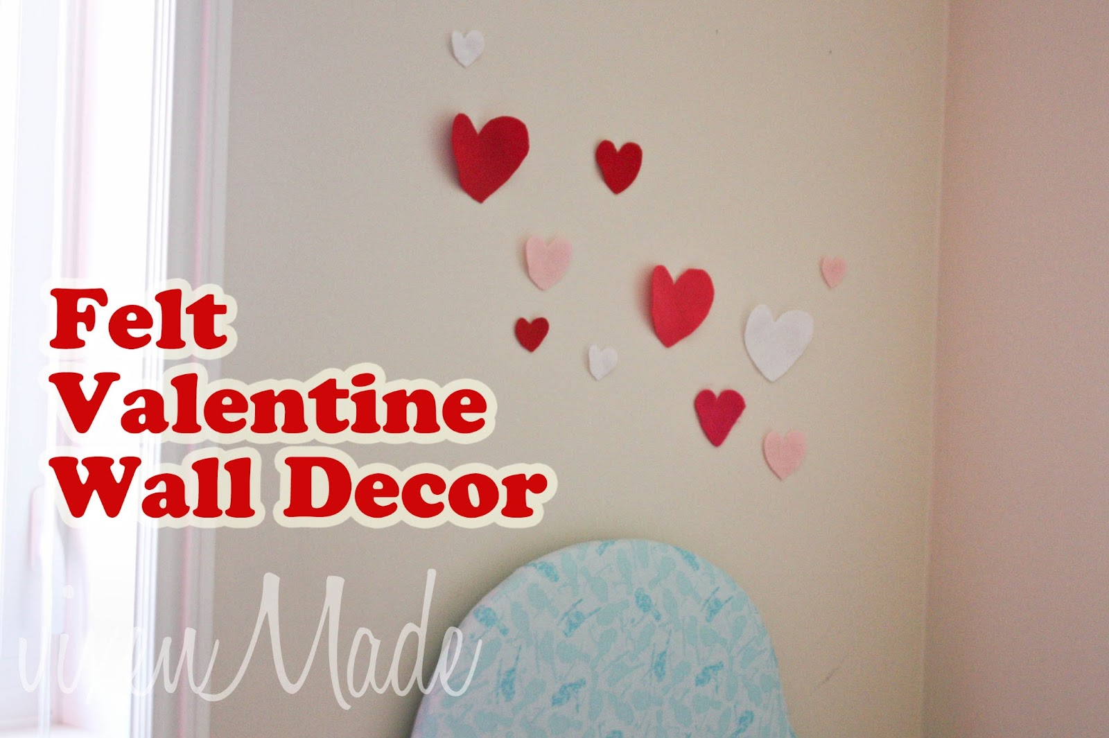 Felt Valentine Wall Decor Vixenmade Parties