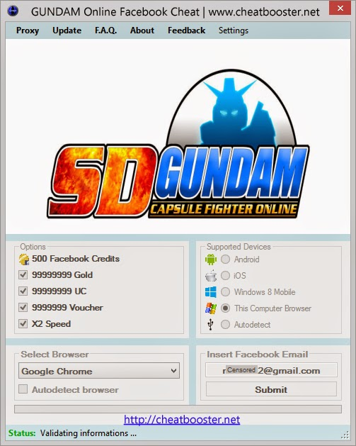 Gundam Online Game Hack