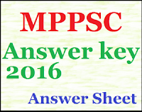 MPPSC Answer Sheet