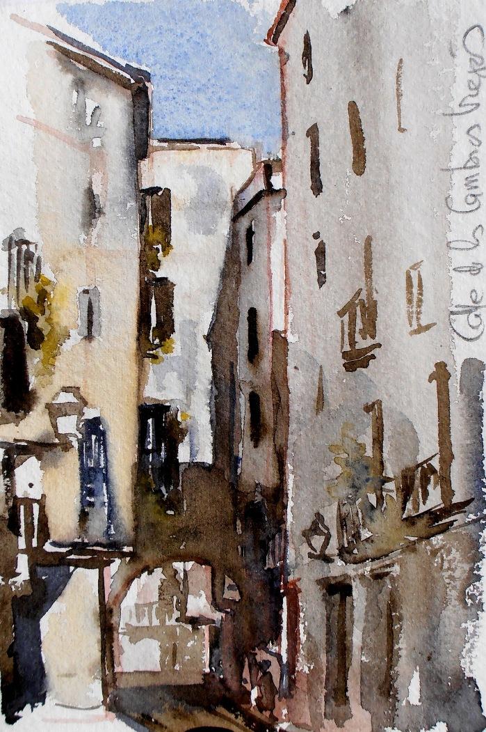 Joshemari larra aga acuarelas casco antiguo de barcelona - Casco antiguo de barcelona ...