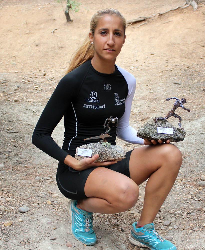 Patricia Muñoz, ganadora de la Copa Sport HG de Castilla y León. /TRAILCYL