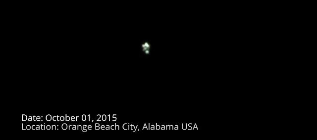 UFO Sightings Filmed Over Orange Beach City, Alabama