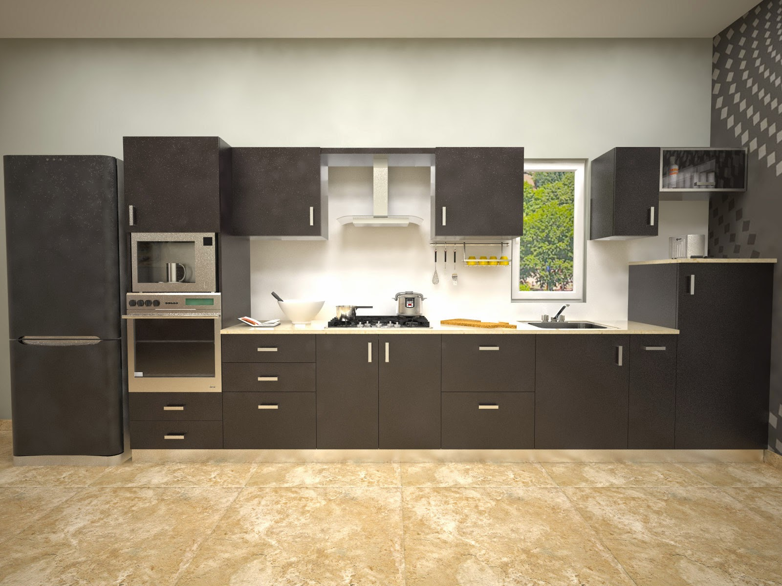 Aamoda kitchen straight modular kitchen for Kitchen gallery