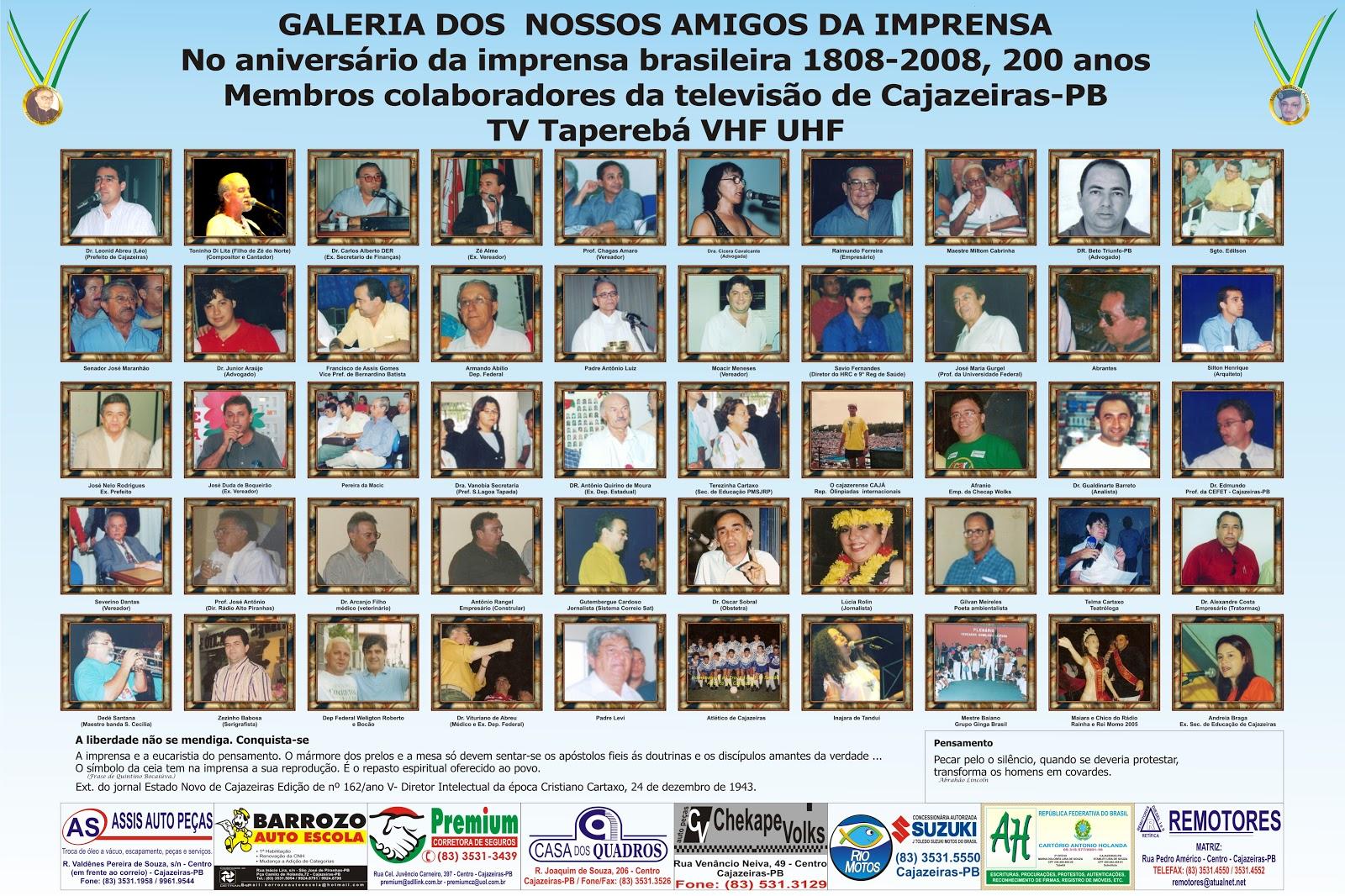 COMEMORAÇÃO  DOS  2006  ANOS  DA  IMPRENSA  DO  BRASIL