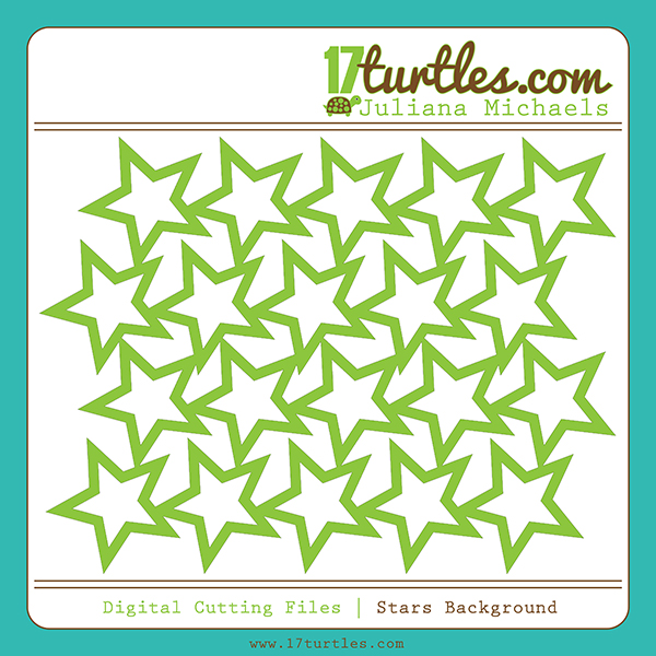 Stars Background Free Digital Cutting File by Juliana Michaels