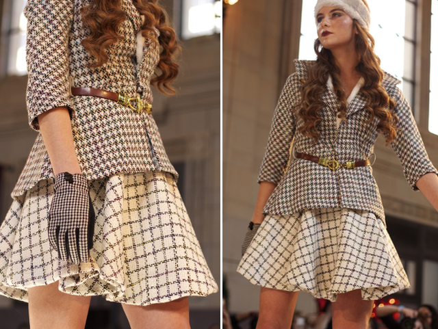 Andrea Marie Long Designs Plaid at KCFW 2014