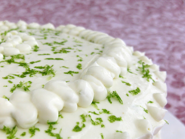 This unique gin dessert uses a key lime cake recipe, gin frosting, and gin and tonic syrup