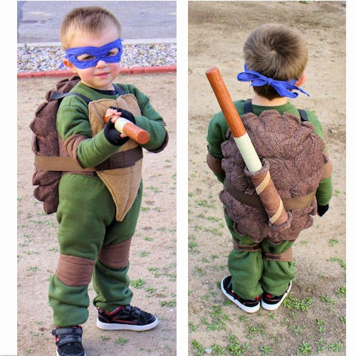 Cute TMNT Kids Homemade Costume