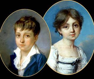 George Sand e seu meio-irmão Hippolyte