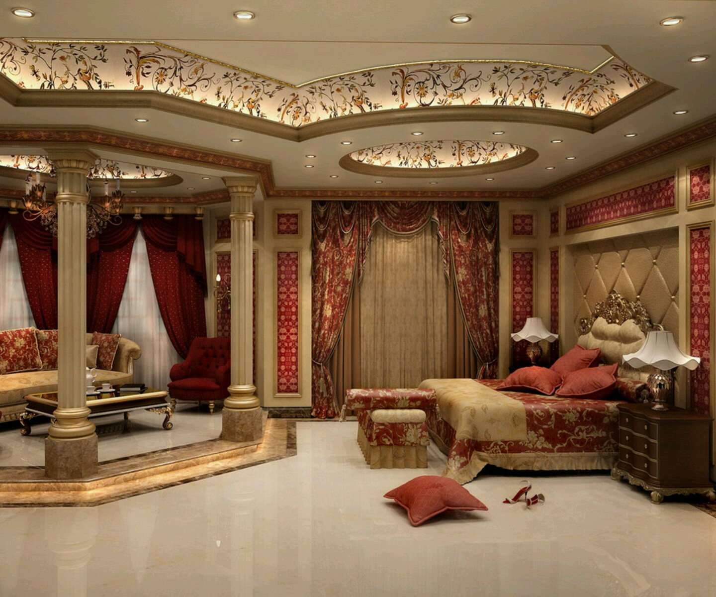 Home Designs Latest Modern Bedrooms Designs Ceiling Designs Ideas