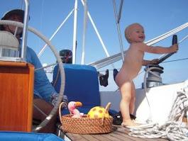 Babalar için denizci çocuklar