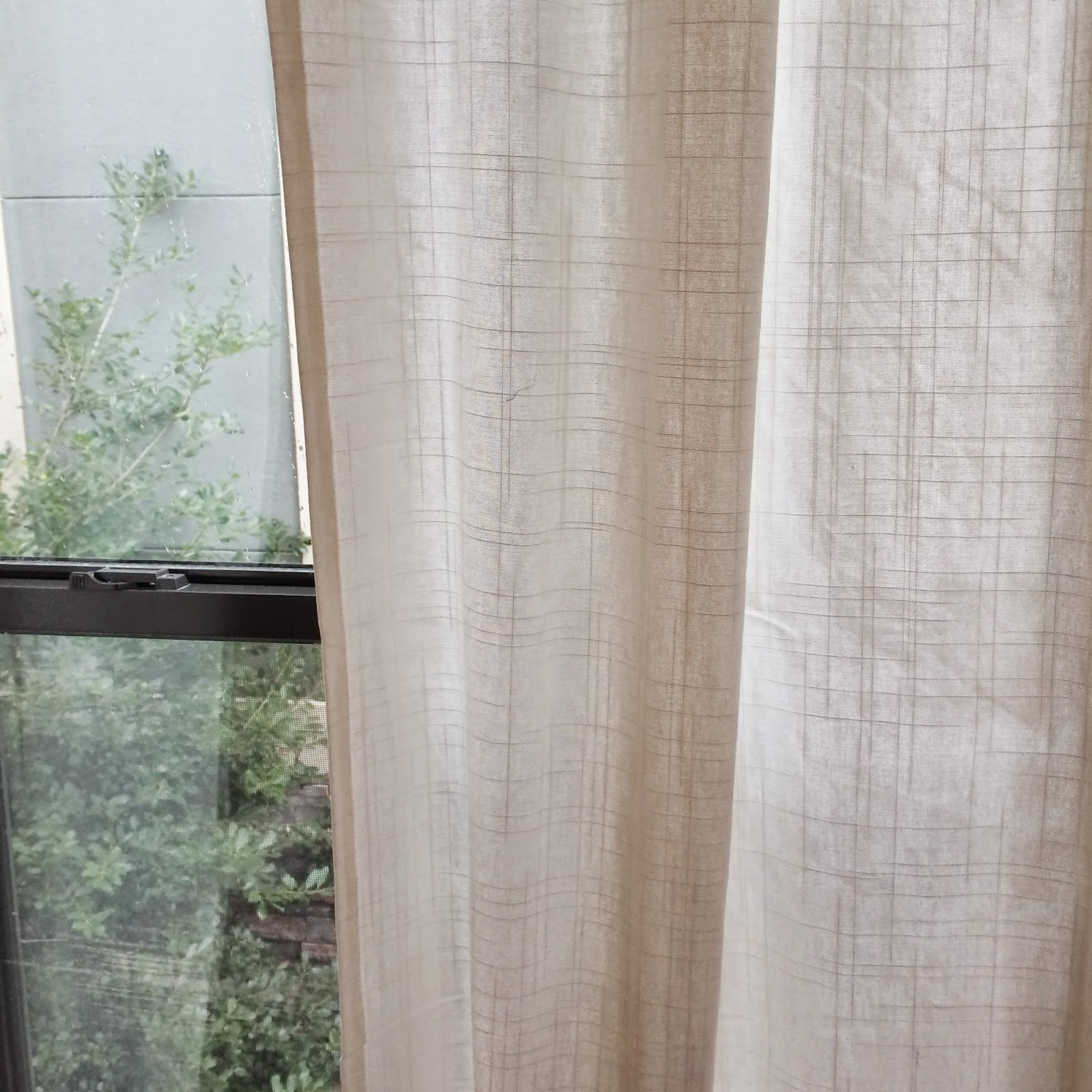 Veronika 39 s blushing for Linen curtains ikea