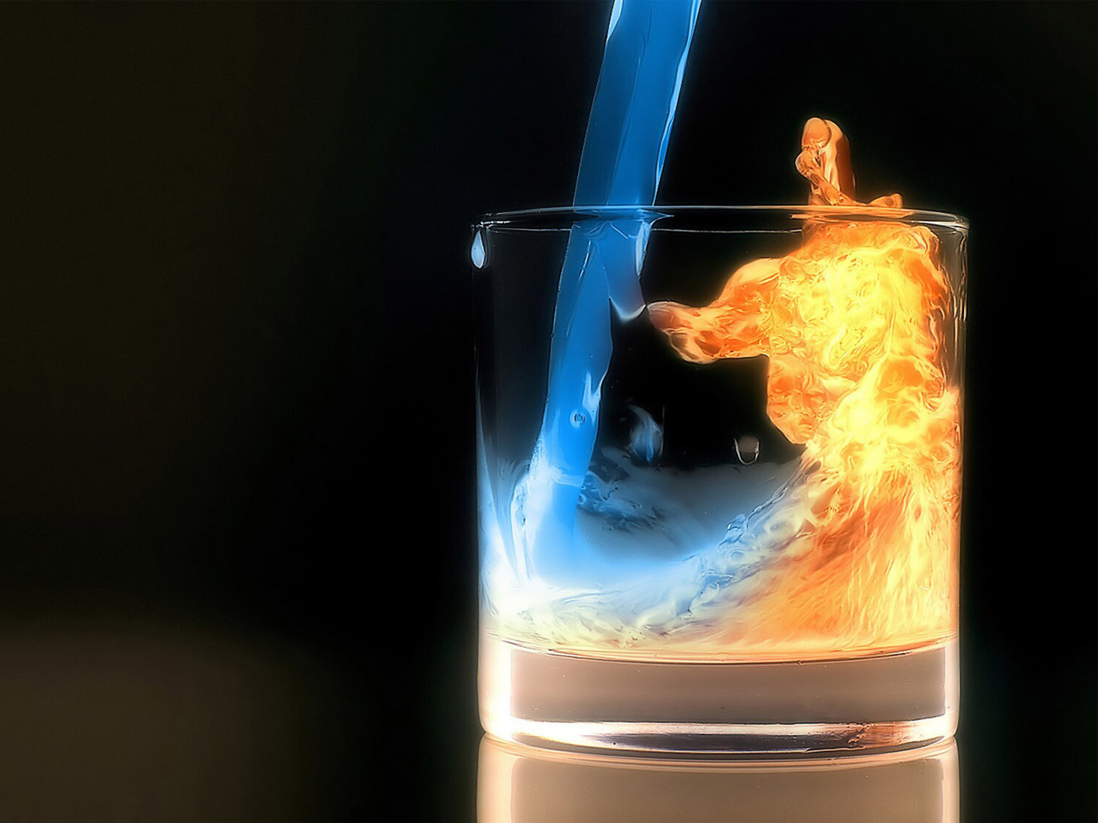 Wallpapers Water Fire