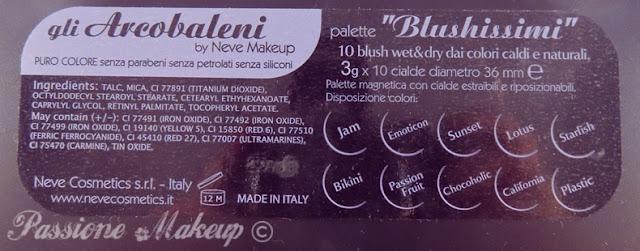 Neve Cosmetics palette Blushissimi