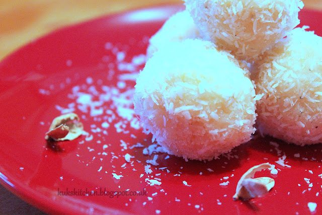 Heavenly sweet coconut balls coconut burfi