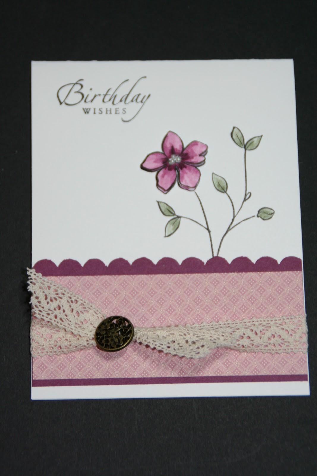 Flower Fancy Birthday Card