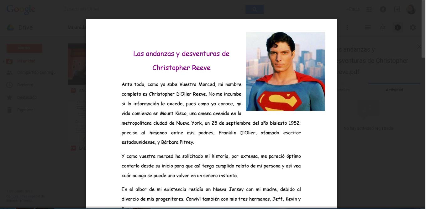 Las andanzas y desventuras de Christopher Reeve