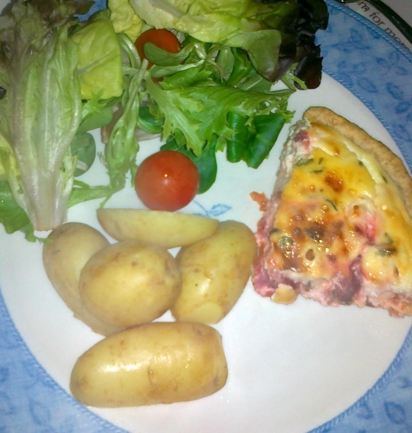 Beetroot, Tomato & Feta Cheese Flan