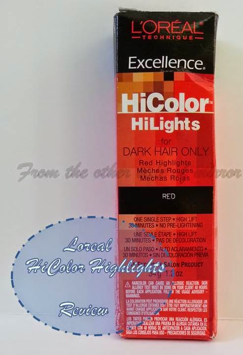 From The Other Side Of Mirror Loreal Hicolor Highlights In Red
