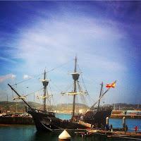 Replica de la Nao Victoria en el Puerto Deportivo de Gijon