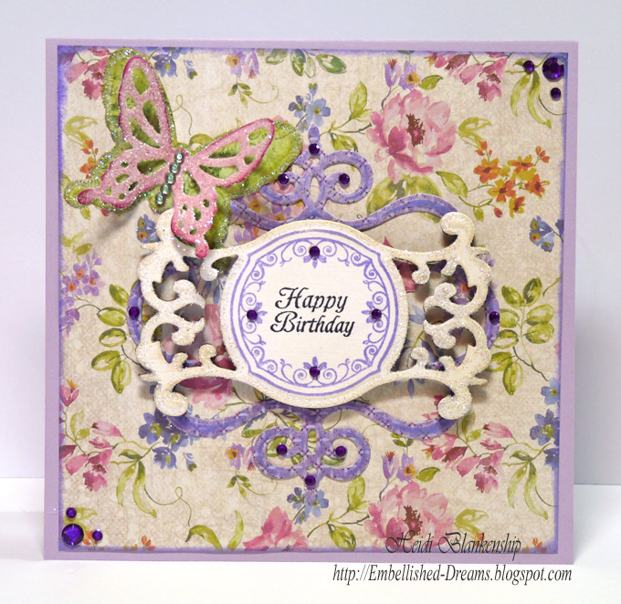 Embellished Dreams Butterfly Happy Birthday