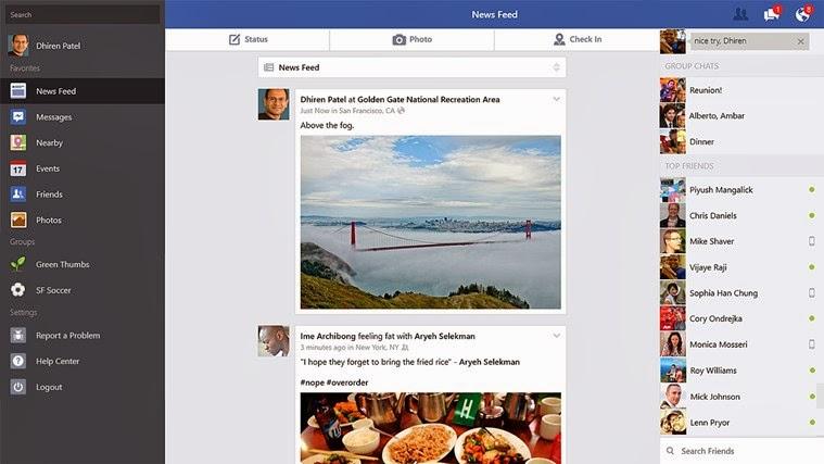 Windows 8 için facebook uygulaması güncellendi