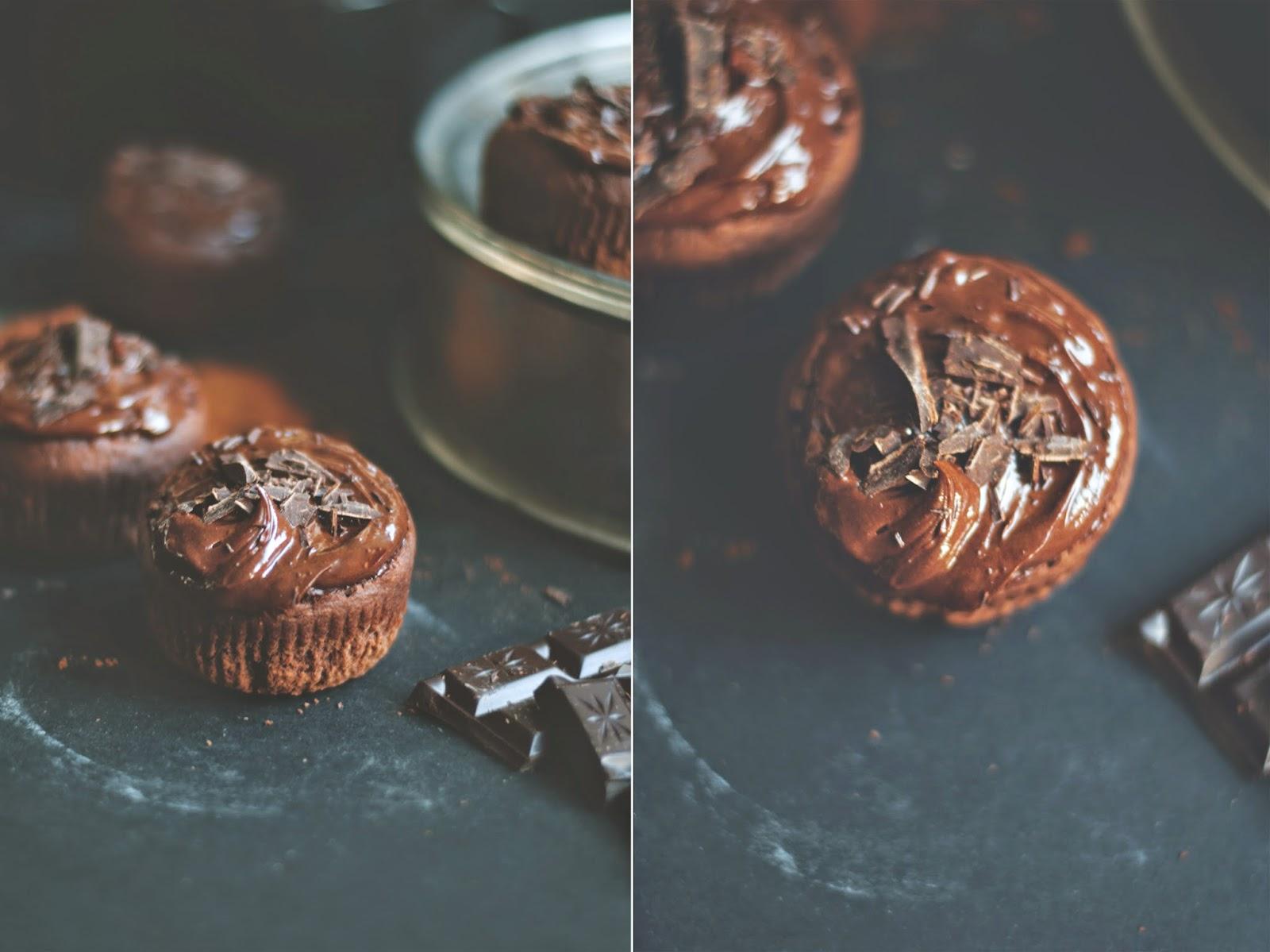 Muffinki z kremem czekoladowym