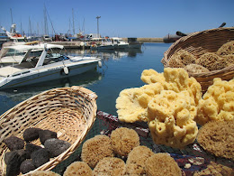 Sponges for Sale, Old Port, Chania, June 2016