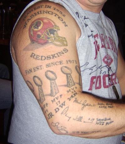 25 Awesome Super Bowl Tattoos PICS  Fantasy Football