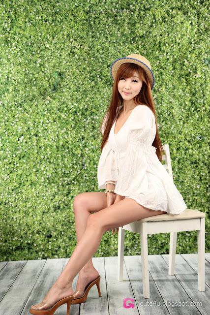 4 Lee Yoo Eun in White-Very cute asian girl - girlcute4u.blogspot.com