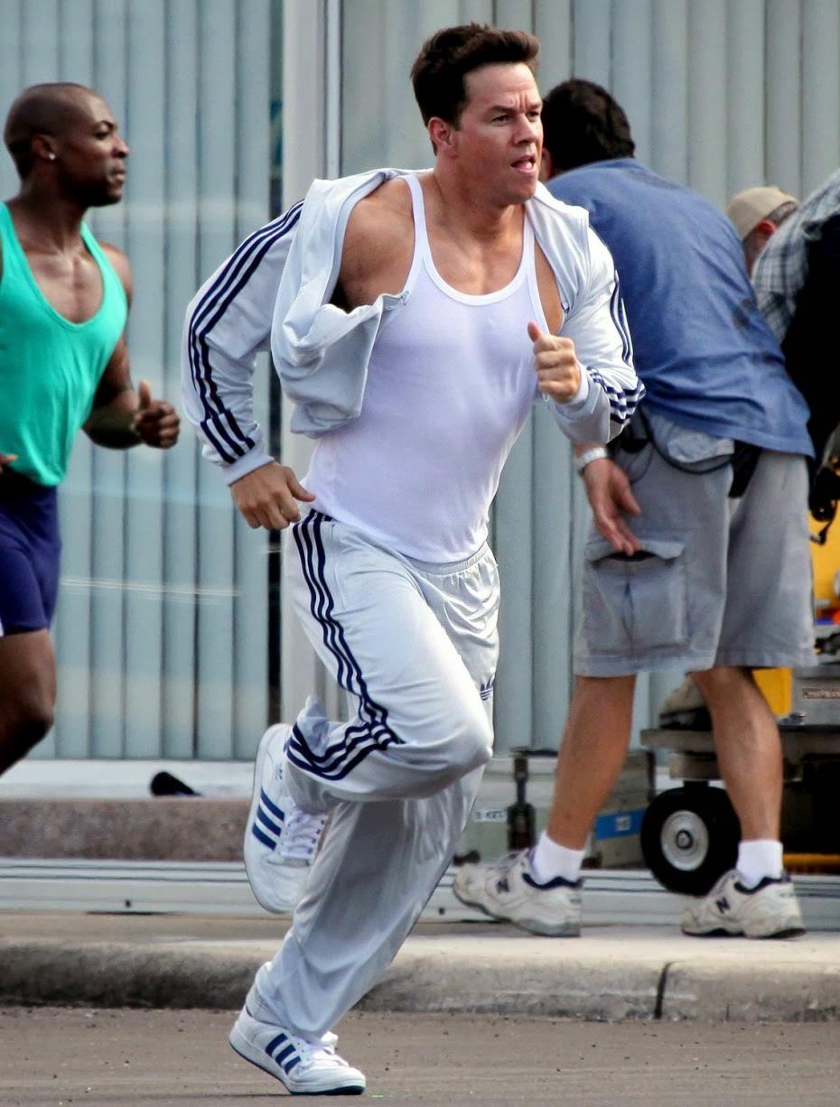 Les3bandes  Mark Wahlberg en survêt adidas Firebird dans No pain No Gain 99b04e1edb0