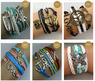 Image: Three Free Bracelets with coupon code: FrugalFreebies