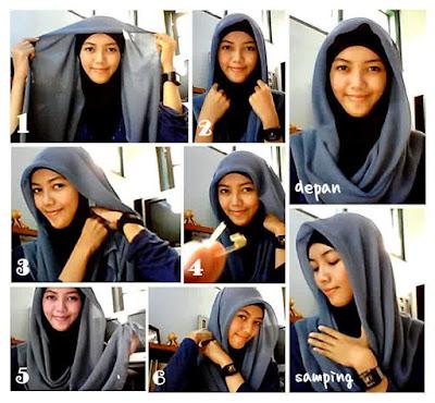 Cara Memakai Hijab Segitiga Yang Mudah dan Simple