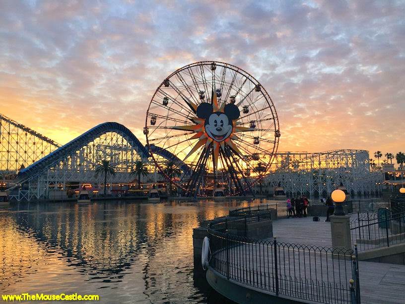 Paradise Pier at sunset