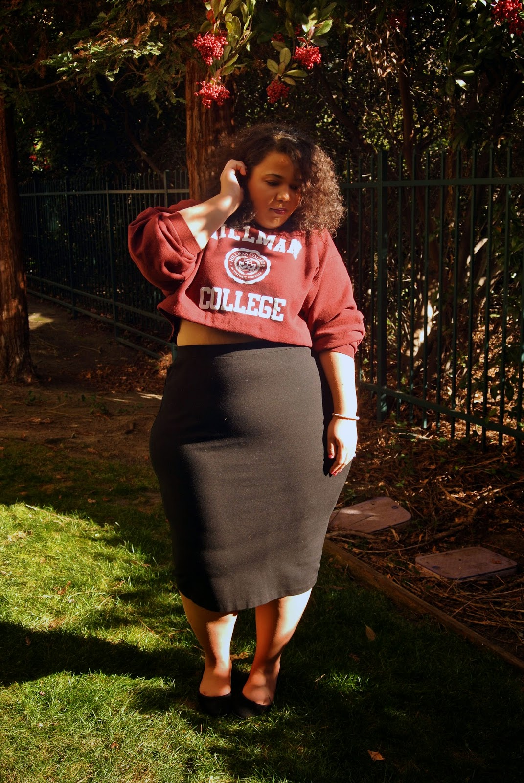 Hillman College Sweatshirt, A Different World, Plus size clothing