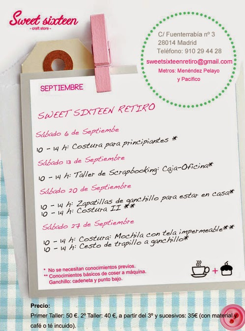 talleres septiembre madrid