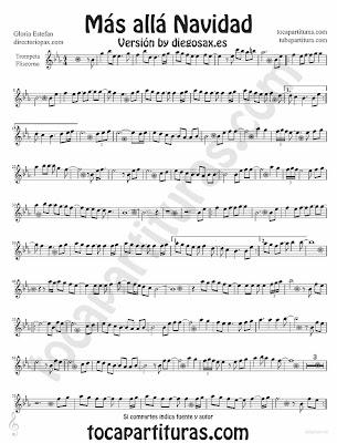 Tubepartitura Más Allá de Gloria Estefan partitura para Trompeta y Fliscorno Villancico pop - rock