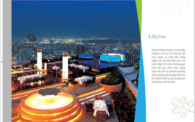 Skybar tại Ecolife Lê Văn Lương