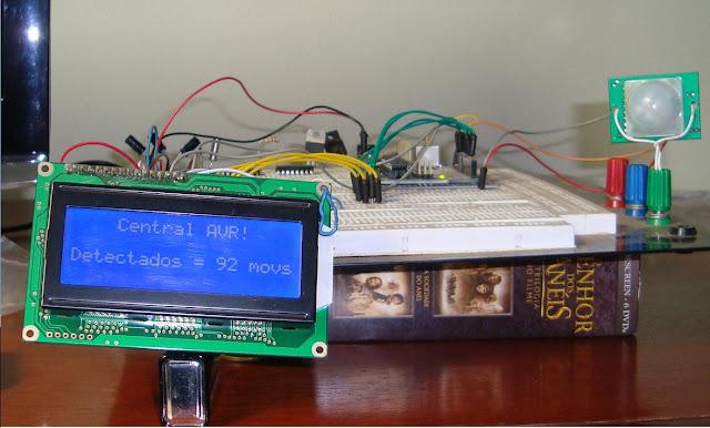 circuito de detecção movimento infravermelho arduino