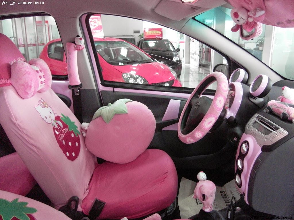 Gambar Interior Mobil Hello Kitty Wallpaper Lucu Mobil Hello Kitty San Rio
