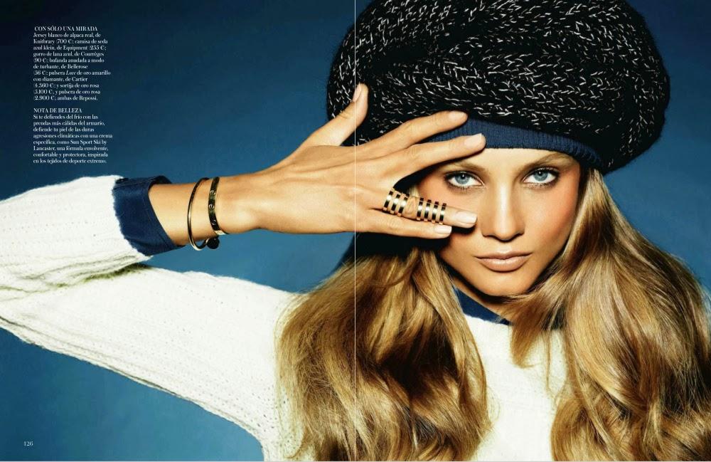 Magazine Photoshoot : Anna Selezneva Photoshot For Vogue Magazine Espanha Janeiro 2014 Issue
