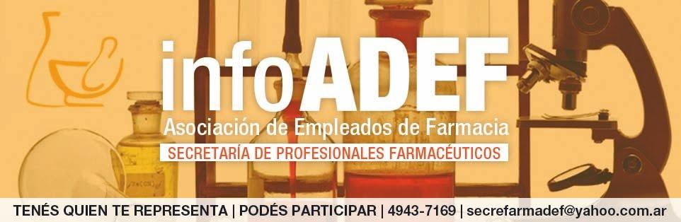 A.D.E.F. | Secretaría de Profesionales Farmacéuticos