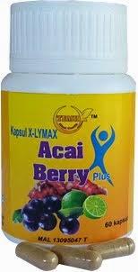 Ubat Kurus Kapsul X-Lymax Acai Berry Plus - Lulus Kementerian Kesihatan