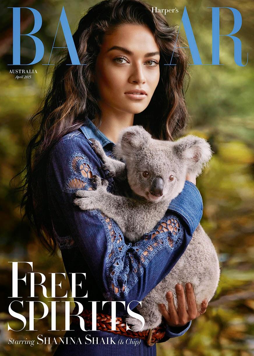 Supermodel @ Shanina Shaik By Simon Upton For Harper's Bazaar Australia March 2015