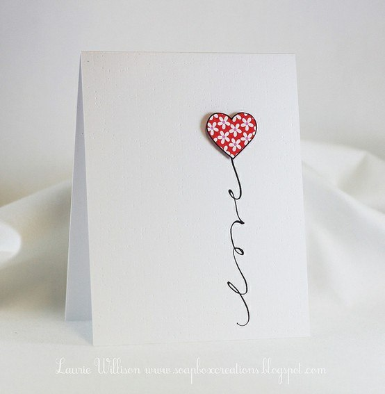 Home decorating ideas valentine card ideas for Designs for valentine cards