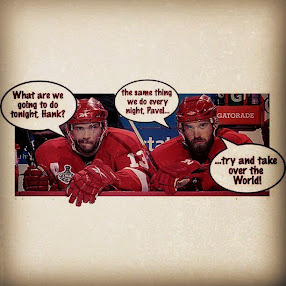 Pavel Datsyuk and Henrik Zetterberg